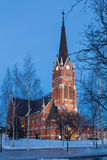 Iglesia en Lulea Foto de archivo libre de regalías