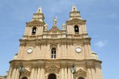 Iglesia en Mellieha Foto de archivo