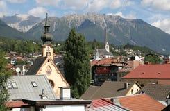 Iglesia en montañas Foto de archivo