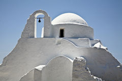 Iglesia en Mykonos Imágenes de archivo libres de regalías