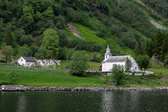 Iglesia en Noruega Foto de archivo