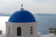 Iglesia en Oia - Santorini - Fotos de archivo