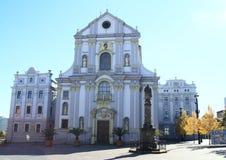 Iglesia en Opava Fotos de archivo libres de regalías