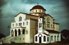 Iglesia en Oporto Lagos - Grecia Foto de archivo