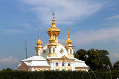 Iglesia en Peterhof Fotografía de archivo