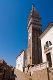 Iglesia en Piran Imágenes de archivo libres de regalías