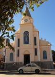 Iglesia en poca ciudad en el Brasil, Monte Siao-MG fotos de archivo