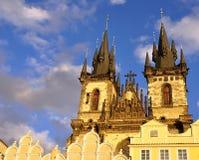 Iglesia en Praga Imagen de archivo libre de regalías