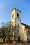 Iglesia en puesta del sol fotos de archivo