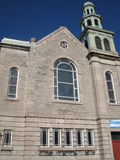 Iglesia en Quebec City Imágenes de archivo libres de regalías