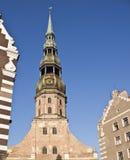 Iglesia en Riga Foto de archivo libre de regalías