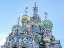 Iglesia en sangre derramada en St Petersburg Fotografía de archivo libre de regalías