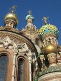 Iglesia en sangre derramada, St Petersburg Foto de archivo