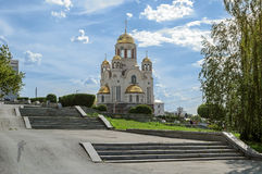 Iglesia en sangre en honor de todos los santos Fotos de archivo libres de regalías