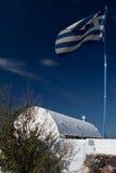 Iglesia en santorini de la isla Fotos de archivo