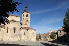 Iglesia en Segovia, España imagenes de archivo