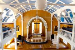 Iglesia en Seydisfjordur - Islandia fotografía de archivo libre de regalías
