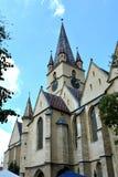 Iglesia en Sibiu, capital europea de la cultura por el año 2007 Imágenes de archivo libres de regalías