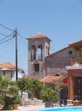 Iglesia en Skala Kalloni Lesvos Grecia Foto de archivo