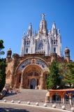 Iglesia en Tibidabo, Barcelona imagen de archivo