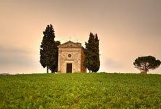 Iglesia en Toscana Imágenes de archivo libres de regalías