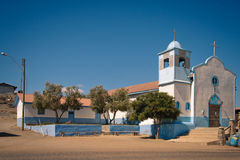 Iglesia en una ciudad vieja en Punta de Choros fotos de archivo