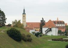 Iglesia en Varazdin imagen de archivo libre de regalías