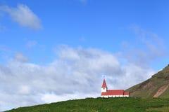 Iglesia en Vik, Islandia Fotografía de archivo libre de regalías