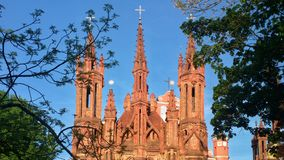 Iglesia en Vilnius imagen de archivo