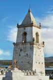 Iglesia en Volcano Isluga National Park Fotografía de archivo libre de regalías