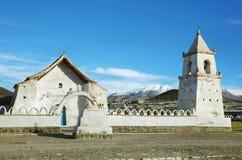 Iglesia en Volcano Isluga National Park Imagen de archivo libre de regalías