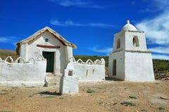 Iglesia en Volcano Isluga National Park Fotografía de archivo