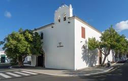 Iglesia en Yaiza en Lanzarote Fotos de archivo libres de regalías