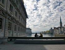 Iglesia en Zurich en Suiza Imagen de archivo libre de regalías