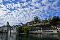 Iglesia en Zurich en Suiza Imágenes de archivo libres de regalías