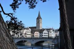 Iglesia en Zurich en Suiza Imagenes de archivo