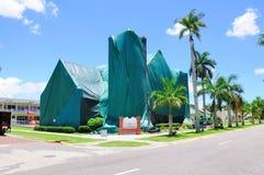 Iglesia entoldada para la fumigación Imágenes de archivo libres de regalías