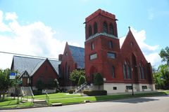 Iglesia episcopal de St Johns en el condado de Phillips, Helena Arkansas Imágenes de archivo libres de regalías