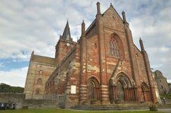 Iglesia escocesa en Kirkwall, las Orcadas St Magnus escocia Reino Unido Imagen de archivo libre de regalías