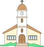 Iglesia española stock de ilustración