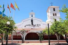 Iglesia española en la costa de Imagen de archivo libre de regalías