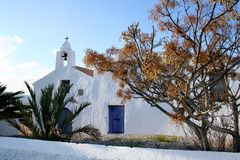 Iglesia española vieja. Foto de archivo libre de regalías