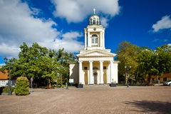 Iglesia evangélica de Nikolay?s del Lutheran, Ventspils imagen de archivo libre de regalías