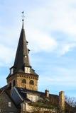 Iglesia evangélica del mercado en Essen-Kettwig imagenes de archivo