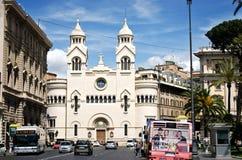 Iglesia evangélica en la plaza Cavour Foto de archivo