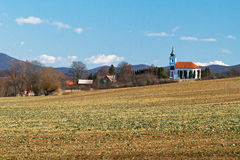 Iglesia evangélica en Nove Sady fotos de archivo