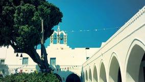 Iglesia exterior de 100 puertas, Parikia, isla de Paros, Grecia Imagen de archivo