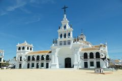 Iglesia famosa de Rocio en Huelva, Andalucía imagen de archivo