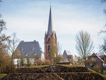 Iglesia Fankenberg Eder Germany de Liebfrauen Imágenes de archivo libres de regalías