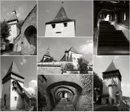 Iglesia fortificada - collage de Biertan Fotografía de archivo libre de regalías